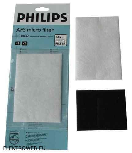 Porszívó alkatrész, Szűrőbetét készlet Philips Marathon, Triathlon ew03248
