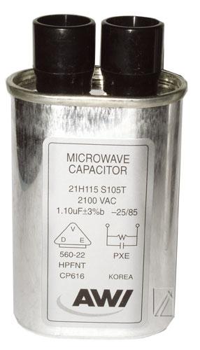 Mikrosütő alkatrész, Mikrosütő 1,1-1,15UF 2100V nagyfeszültségű KONDENZÁTOR ew00602