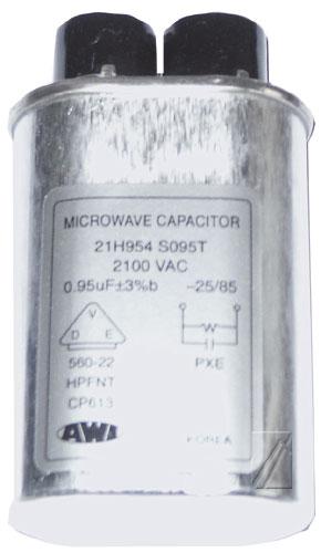 Mikrosütő alkatrész 0,95UF-2100V nagyfeszültségű KONDENZÁTOR ew00603