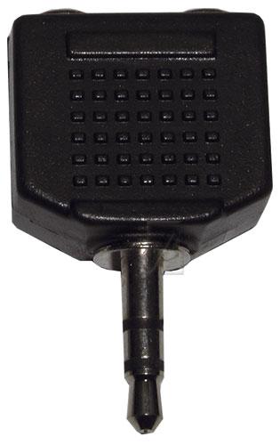 Audio stereo adapter 3,5mm jack dugó / 2x3,5mm jack alj elosztó sztereó ew01726