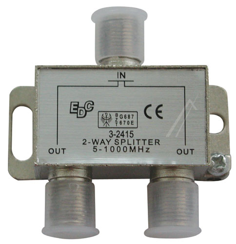 2-utas elosztó CATV SPLITTER 2WAY 5-1000MHZ 3,7db, SWV4000S/10 Philips ew01822