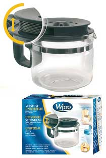 Kávéfőző alkatrész, Kávéskanna univerzális 9/12 csészés  W-PRO ew01901