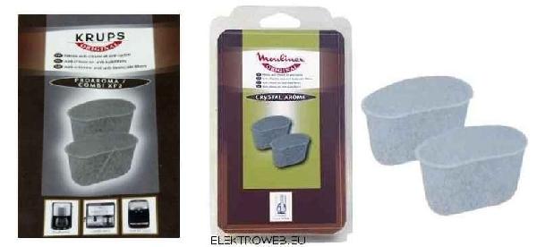 Kávéfőző alkatrész, vízszűrő klórszűrő SET 2db kávégépekhez Krups, Moulinex ew02166