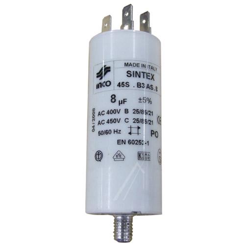 Mosógép alkatrész 8µF,400V indítókondenzátor 48198172914 WHIRLPOOL mosógépekhez ew02400