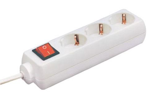 NV-03K-3/WH 220 V-OS HÁLÓZATI ELOSZTÓ kapcsolóval ew02489