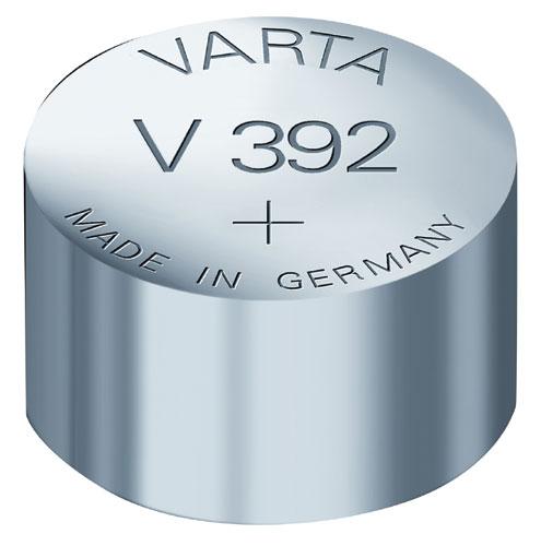 V392 1,55V-38MAH Ezüstoxid gombelem SR41 VARTA 7,9X3,6MM ew02639