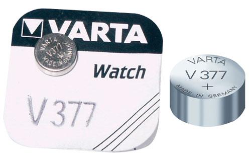 V377 1,55V-24MAH EZÜSTTOXID GOMBELEM SR66 VARTA 6,8X2,6MM ew02640
