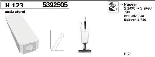 Porszívó alkatrész, H123 PORSZÍVÓZSÁK 5db HOOVER ew02932