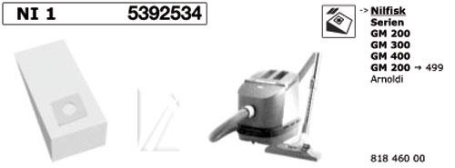 NI1 PORSZÍVÓZSÁK NILFISK 5db-os papír ew03287