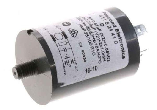 Mosogatógép alkatrész, Univerzális Zavarszűrő kondenzátor mosógéphez, mosogatógéphez ew03326