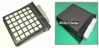 Porszívó alkatrész, Kazettás Hepa H13 szűrő samsung SC6210, VCC6210, SC6216, VCC6216, SC6260, VCC6260 porszívóhoz  ew03580