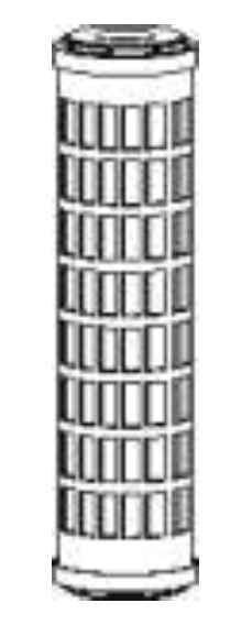"""Image of 100mikronos mosható szűrőbetét 10""""x2,5""""-os szűrőházba ew03624"""