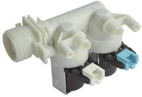 Mosógép alkatrész,kettős mágnesszelep, Indesit WP80,WIE107, Ariston mosógéphez ew03949