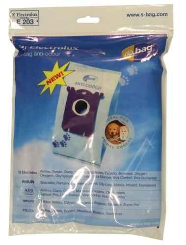 Porszívó alkatrész, SBAG E203 ANTI ODOUR mikroszűrős  porzsák  Electrolux porszívóhoz ew04048