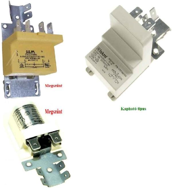 Mosogatógép alkatrész Zavarszűrő Kondenzátor, ELIN, Elinlux GS6521FW mosogatógéphez ew04185