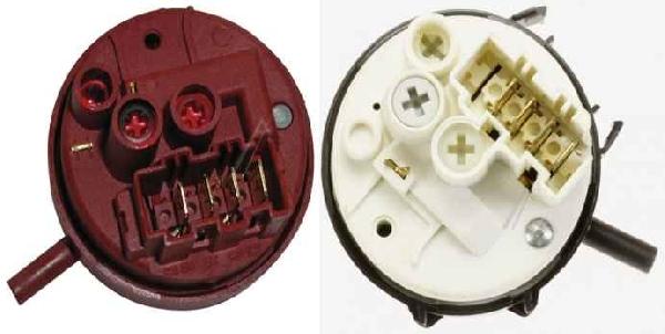 Mosógép alkatrész, Nyomáskapcsoló, vízszintszabályzó érzékelő, Hajdú felültöltős ew04434