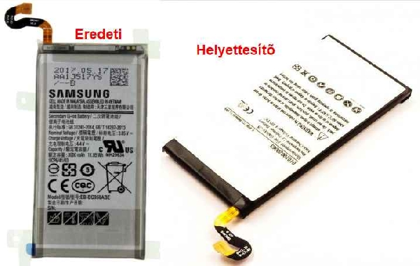 Mobiltelefon akku Samsung Galaxy S8 mobiltelefonhoz ew04568